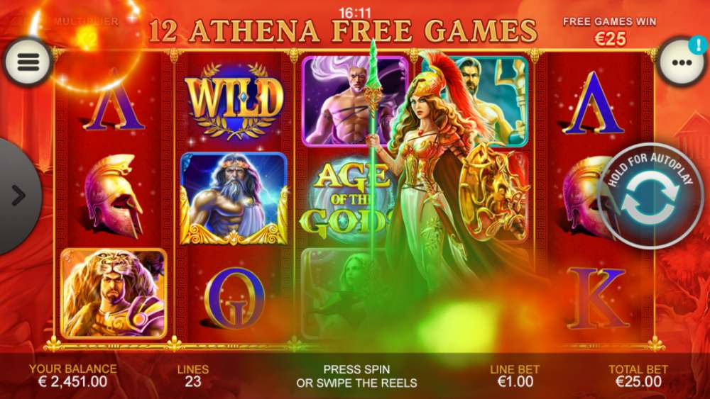 age of the gods freespins