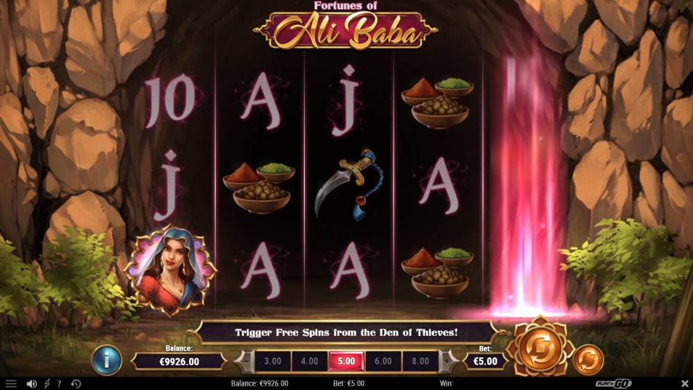 ali baba spill freespins den of the thieves