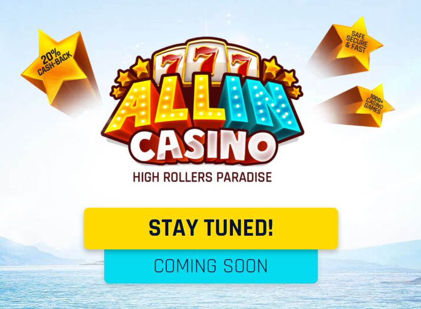all in casino kommer snart