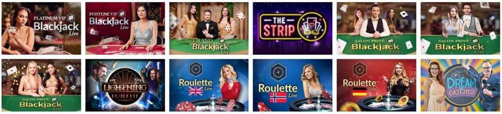 atlantic spins - live casino