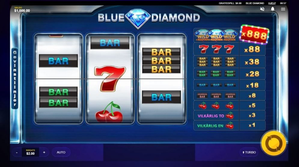 blue diamond - front