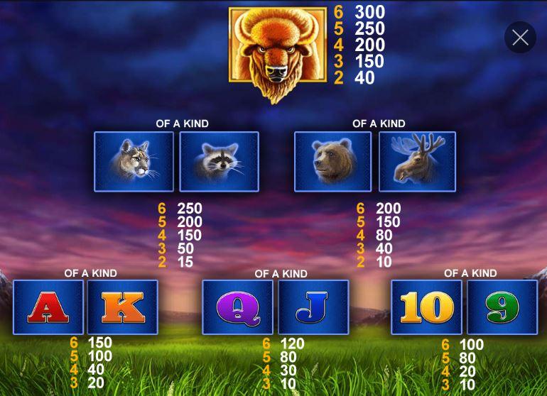 buffalo blitz symboler
