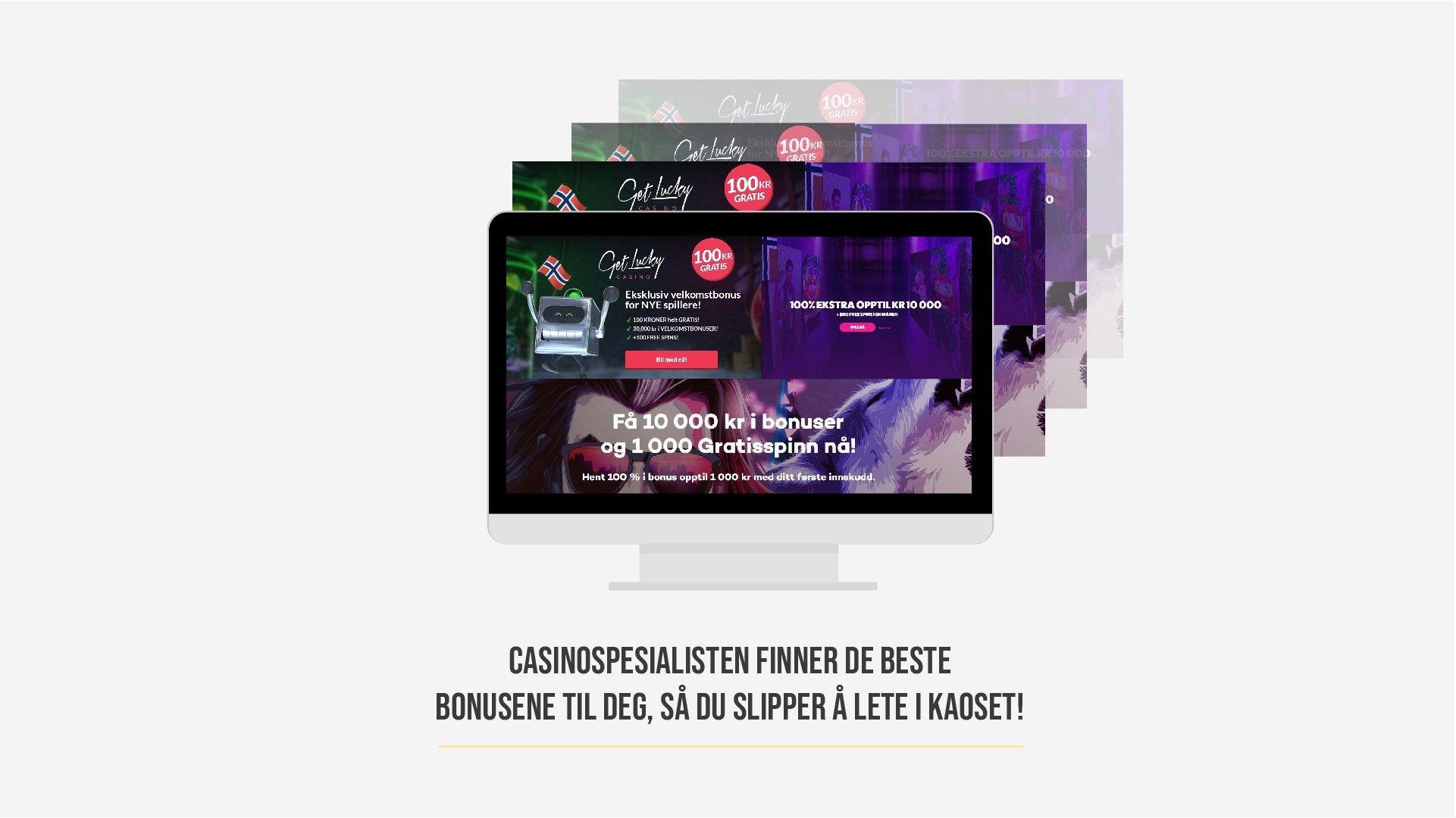 casino bonus kaos vi hjelper deg