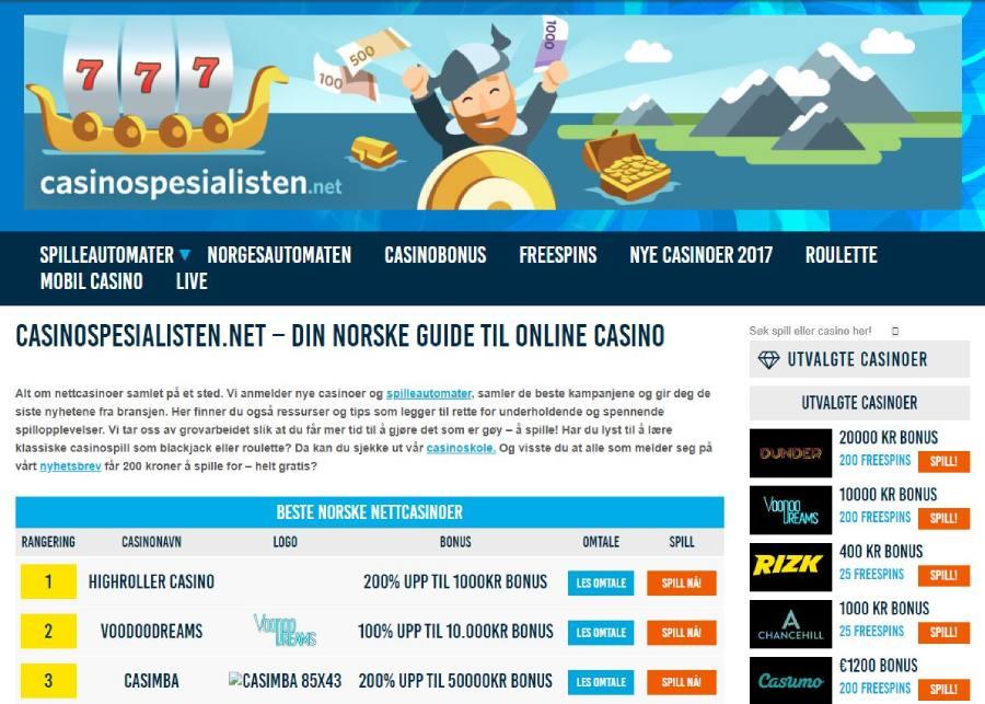 casinospesialisten 2017