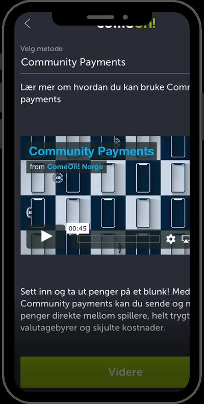 community payments steg 2 - velg metode