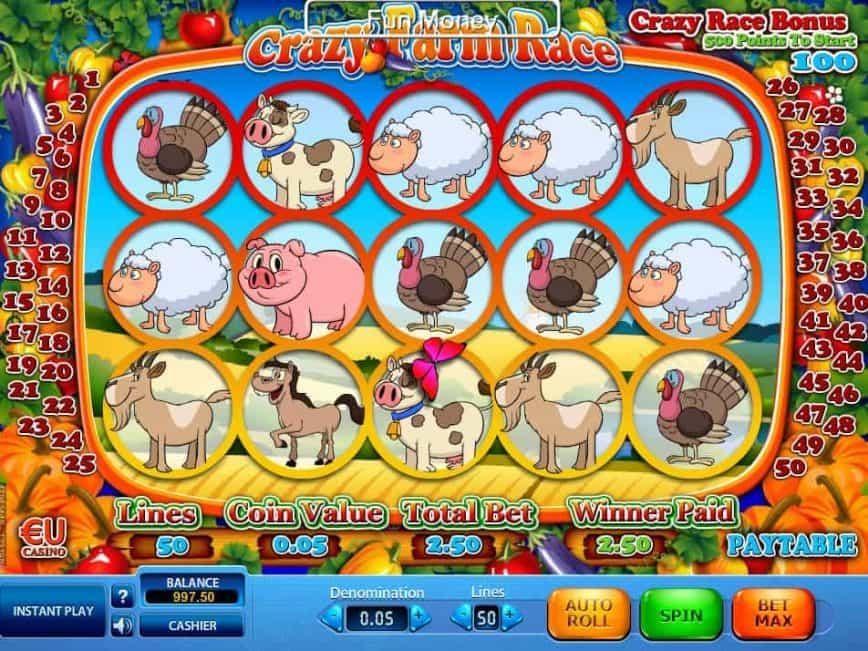 crazy farm race slot