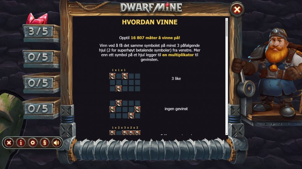 dwarf mine - hvordan vinne