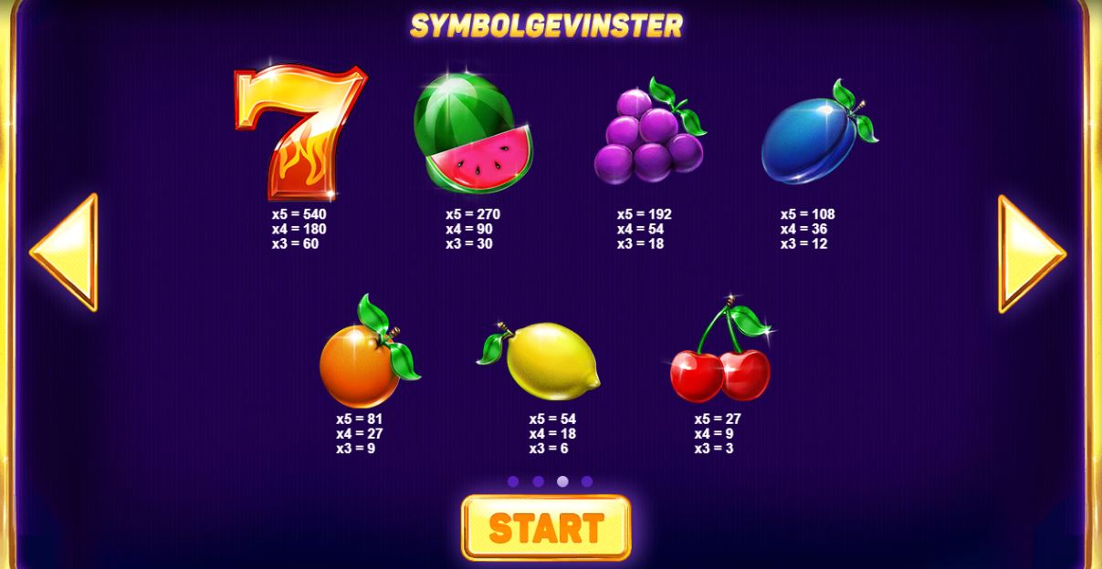 five star - spesialsymboler