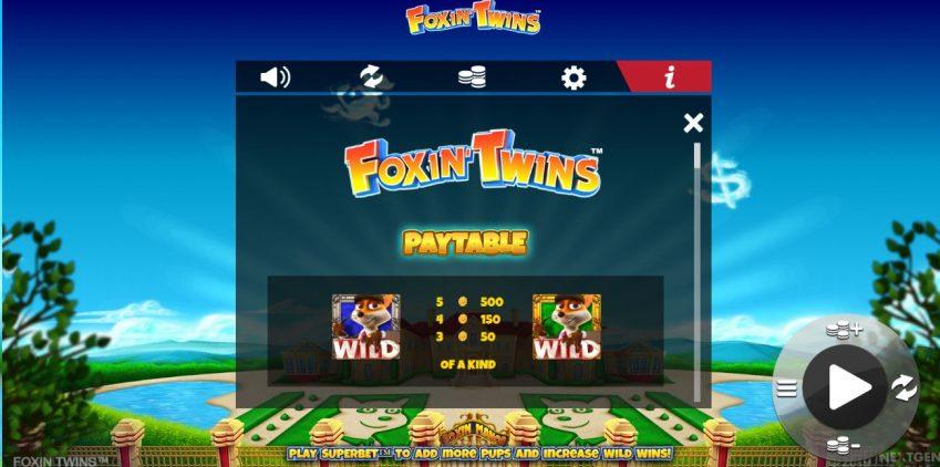 foxin twins - spilleautomaten