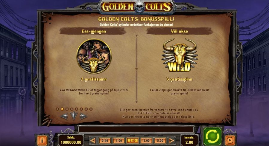 golden colts - freespins