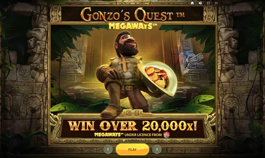 gonzos quest skjermbilde