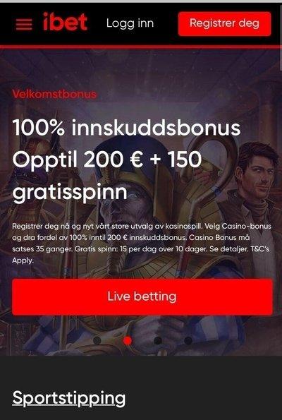 iBet Casino freespins