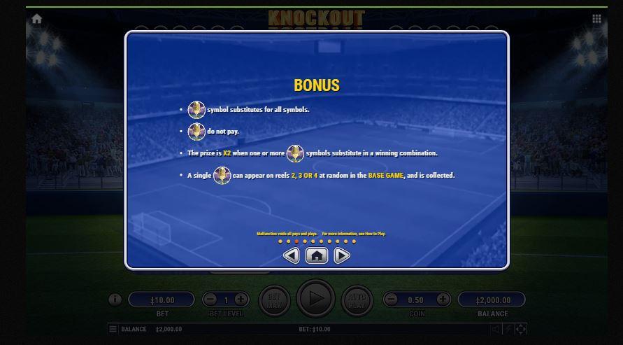 knockout football bonus
