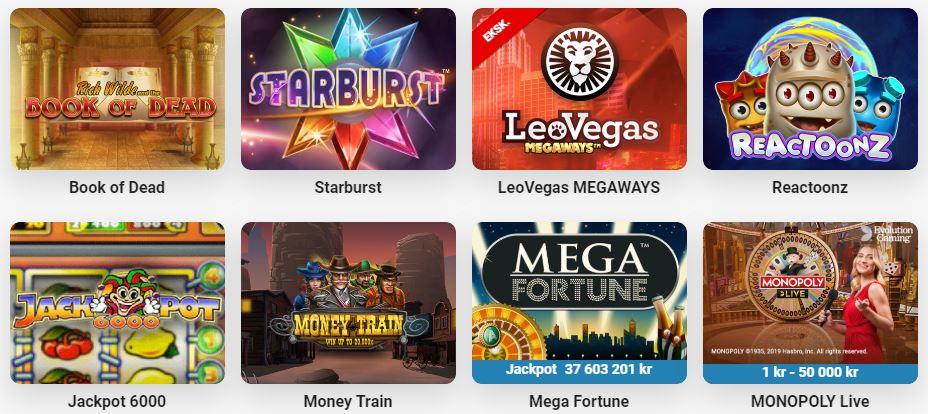 leovegas populære spill