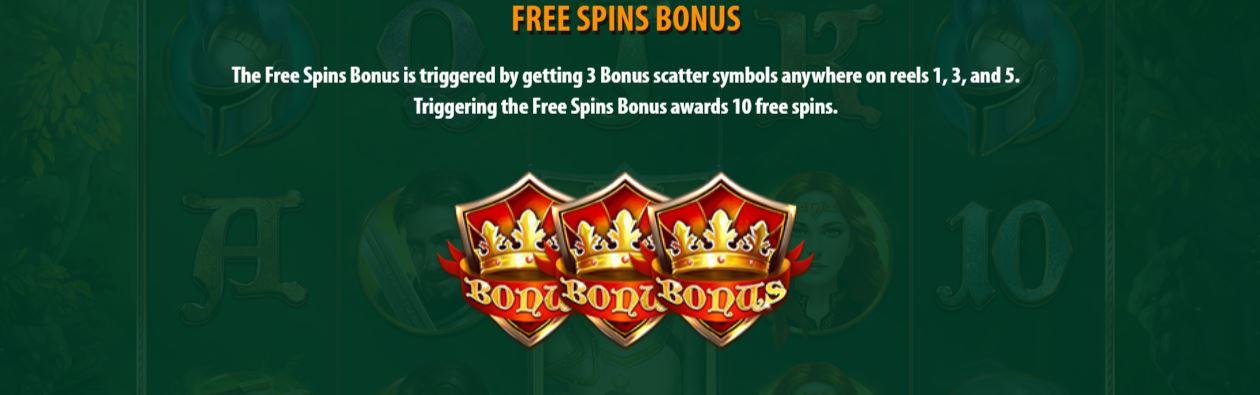 mighty arthur - free spins bonus