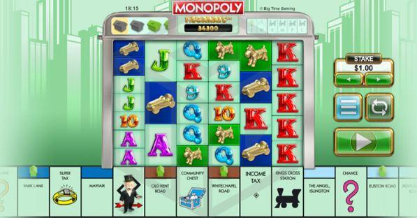 monopoly megaways spiller