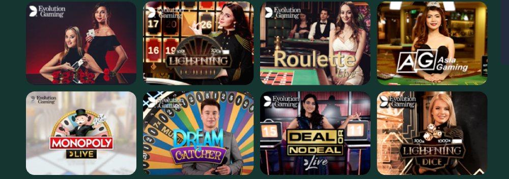 montecryptos live casino