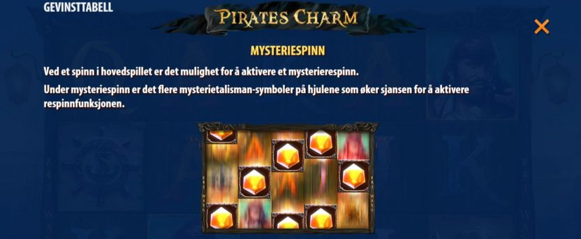 pirates charm - mystery spinn