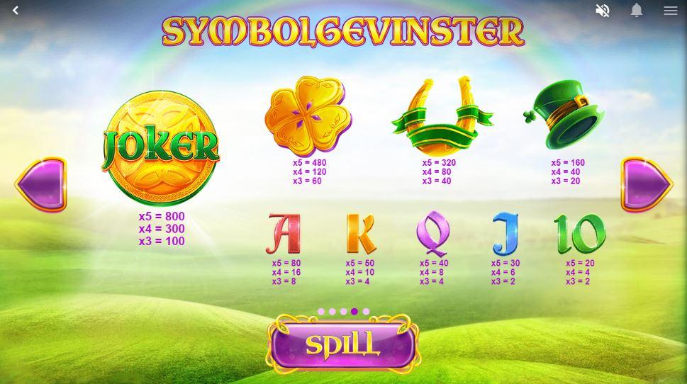 rainbow jackpots - symbolgevinster
