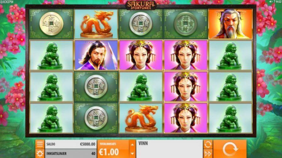 sakura fortune spilleautomat