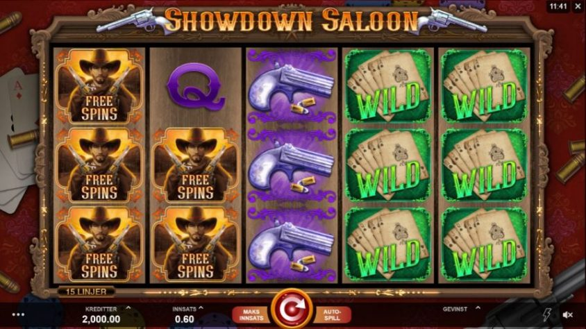 showdown saloon spill