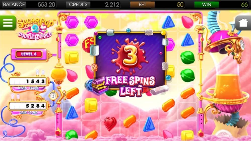 sugar pop 2 freespins