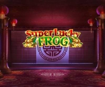 super lucky frog logo