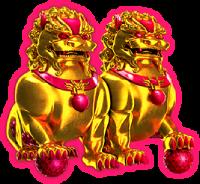 super lucky frog symbol løve