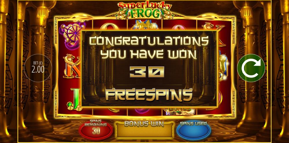 super lucky frog freespins