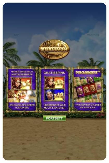 survivor megaways funksjoner og bonuser