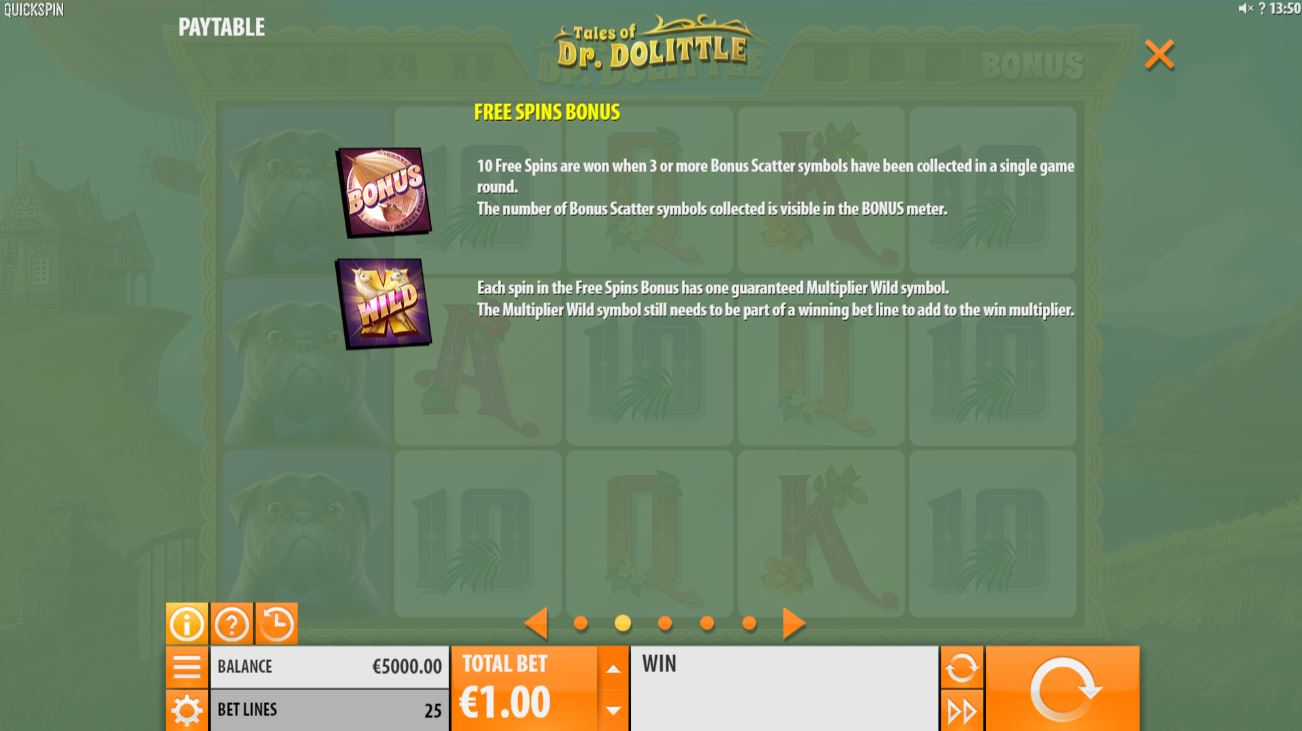 tales of dr doolittle - free spins