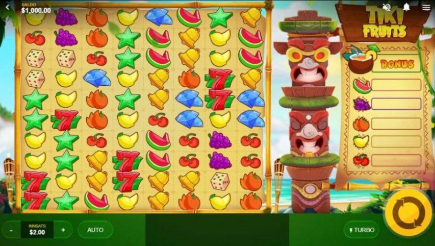tiki fruits - spilleautomat