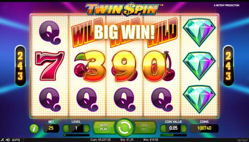 twin spin funksjon