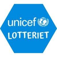 unicef lotteriet blå sekskant