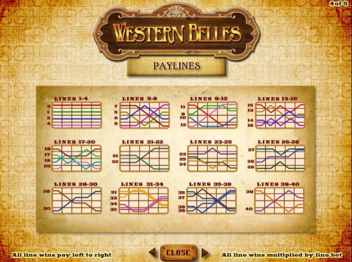 western belles - paylines