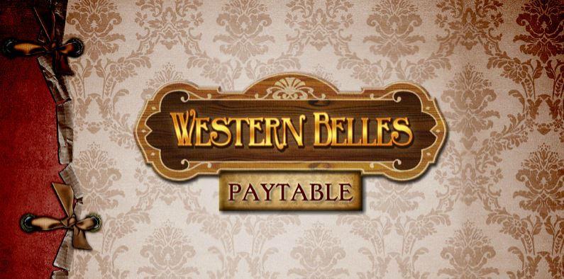 western belles - paytable