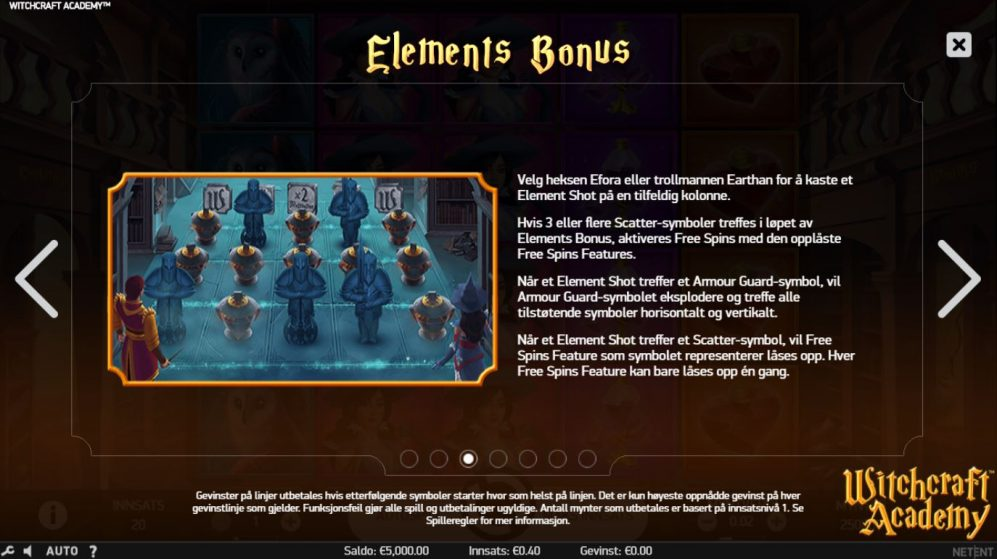 witchcraft acadamy - elements bonus